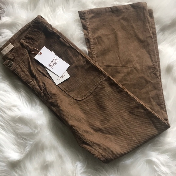 Zara Pants - NWT Zara Basic denim corduroy